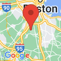Map of Canton, MA US