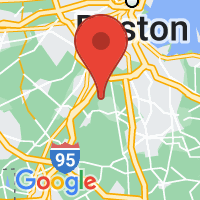 Map of Canton, MA