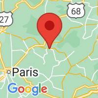 Map of Carlisle KY US