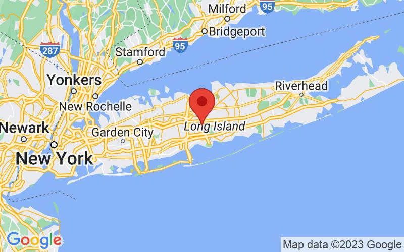 Map of Central Islip, NY