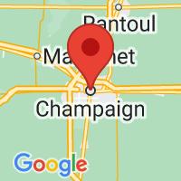 Map of Champaign IL US