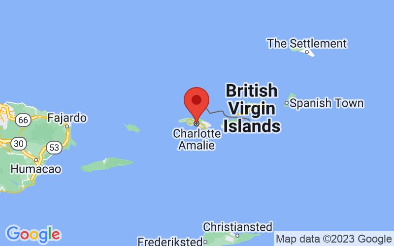 Map of Charlotte Amalie, VI US