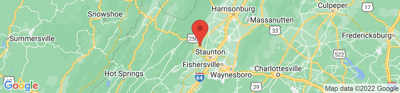 Map of Churchville, VA