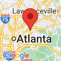 Map of Clarkston GA US