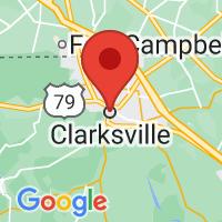Map of Clarksville TN US