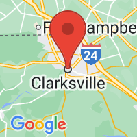 Map of Clarksville, TN