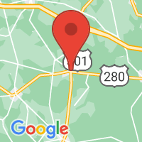 Map of Claxton, GA