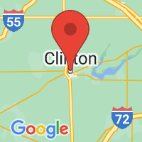 Map of Clinton IL US