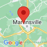 Map of Collinsville, VA