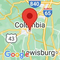 Map of Columbia TN US