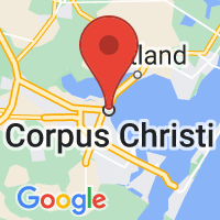 Map of Corpus Christi, TX US