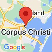 Map of Corpus Christi, TX