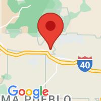 Map of Cubero, NM