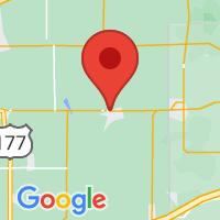Map of Cushing OK US
