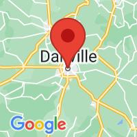 Map of Danville, KY
