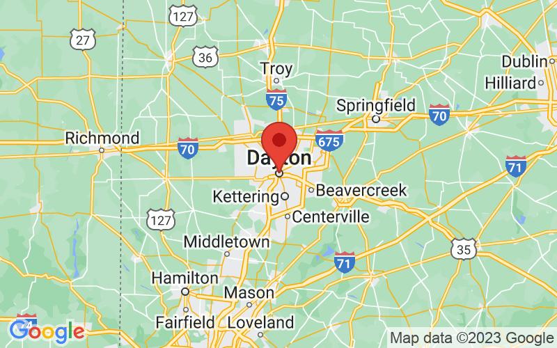 Map of Dayton, OH US