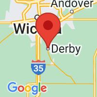 Map of Derby, KS
