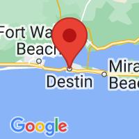 Map of Destin, FL US