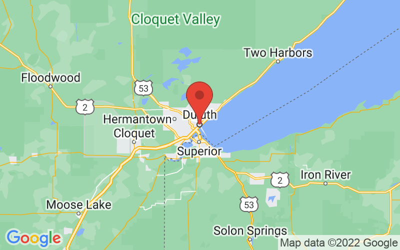 Map of Duluth, MN US