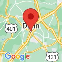 Map of Dunn, NC US