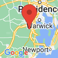 Map of East Greenwich RI US