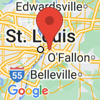 Map of East Saint Louis, IL