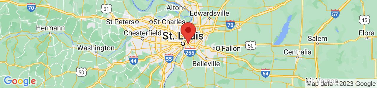 Map of East Saint Louis, IL