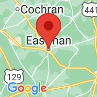 Map of Eastman, GA US