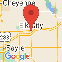 Map of Elk City, OK