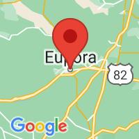 Map of Eupora MS US