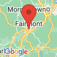 Map of Fairmont, WV US