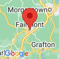 Map of Fairmont, WV US