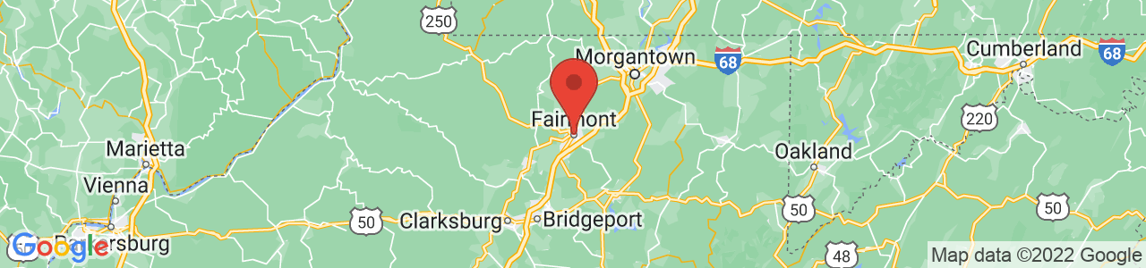 Map of Fairmont, WV