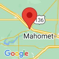 Map of Farmer City IL US