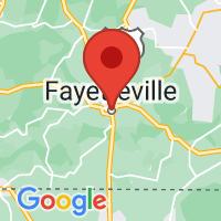 Map of Fayetteville TN US