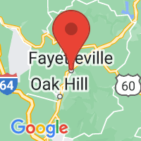 Map of Fayetteville WV US