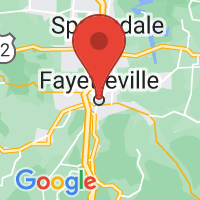 Map of Fayetteville, AR