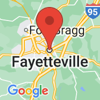 Map of Fayetteville, NC US