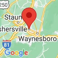 Map of Fishersville VA US