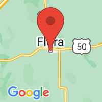 Map of Flora IL US