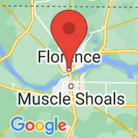 Map of Florence, AL US