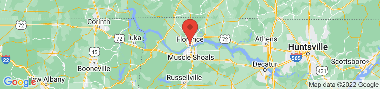 Map of Florence, AL