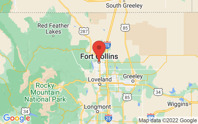 Map of Fort Collins, CO US