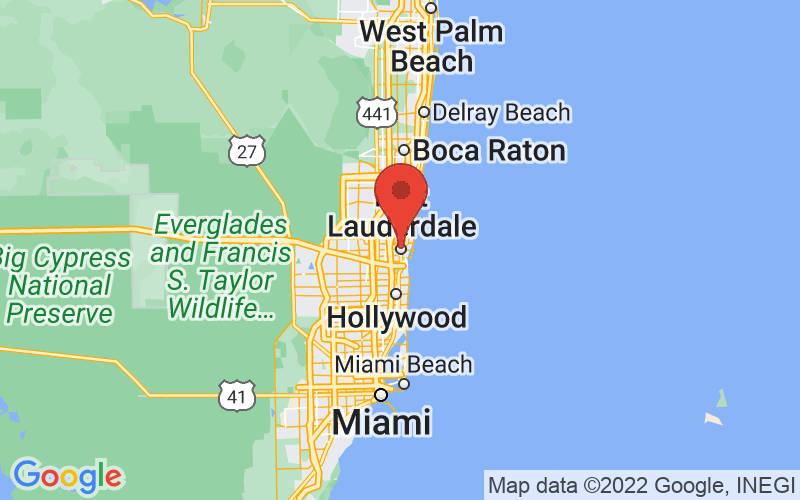 Map of Fort Lauderdale, FL US