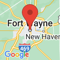 Map of Fort Wayne, IN US