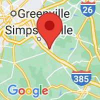 Map of Fountain Inn SC US