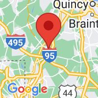 Map of Foxboro, MA US