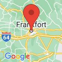 Map of Frankfort, KY US