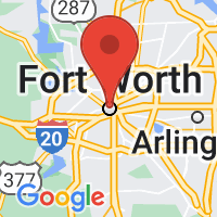 Map of Ft Worth, TX US