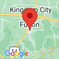 Map of Fulton, MO